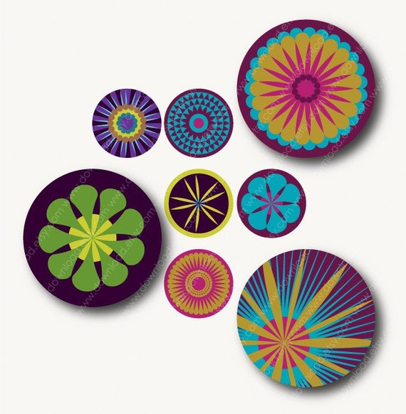 Blaze 1 inch Circles, Digital Collage Sheet, Download and Print Jpeg Images