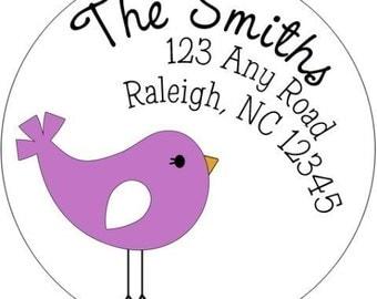 Cutie Bird Return Address Label  (Set of 24)