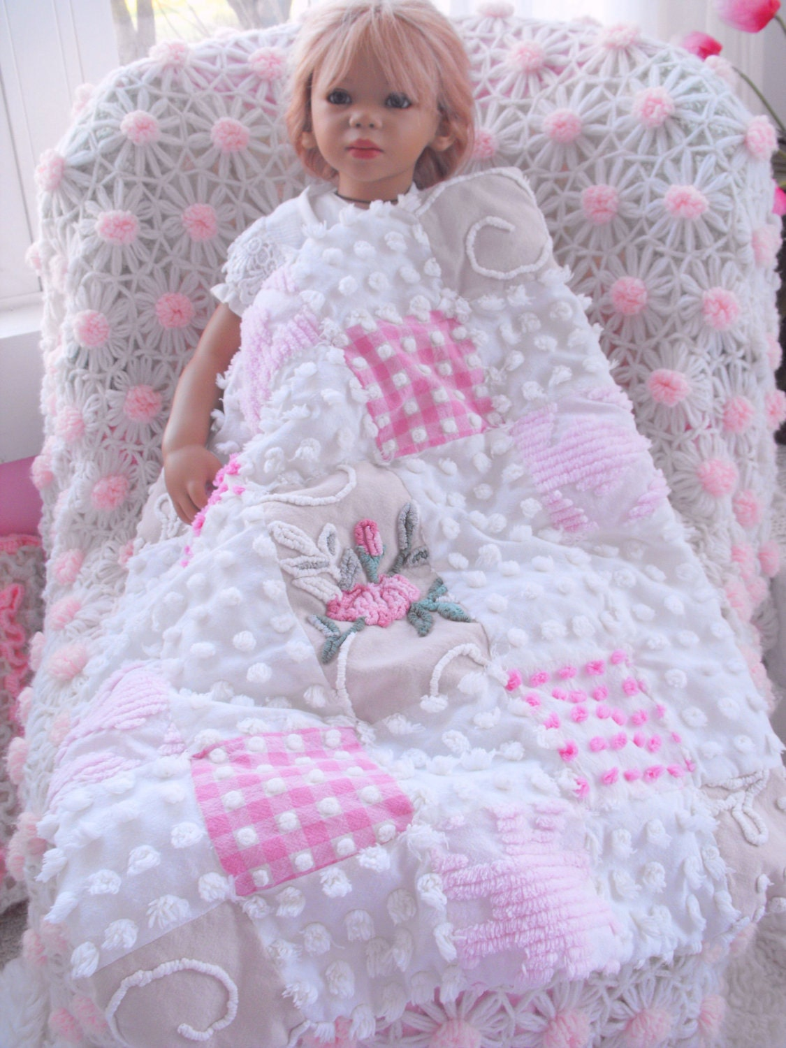 Absolute Princess Vintage Chenille Patchwork Baby Girl
