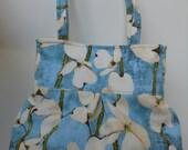 Pleated Lightweight  Hobo Shoulder Everyday Bag - Poppy Collection by Laura Gunn  Dogwood Stripe Denim