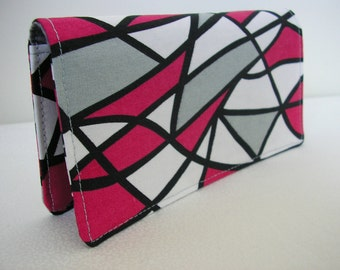 Geometric Lines -  Checkbook Cover Coupon Holder