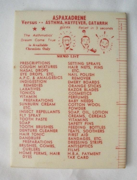 Vintage Pharmacy Advertising Pocket Mirror