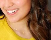 Tiny Gold Key Charm Necklace
