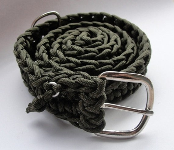 550 paracord survival belt olive drab with buckle for How to make a belt out of paracord
