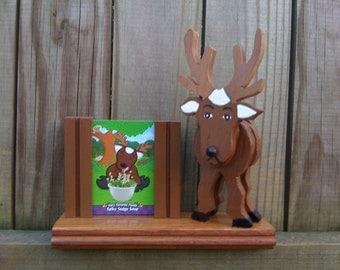 Reindeer Trading Card/Photo Holder