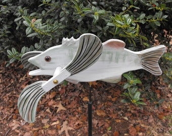 Bass Fish Whirligig