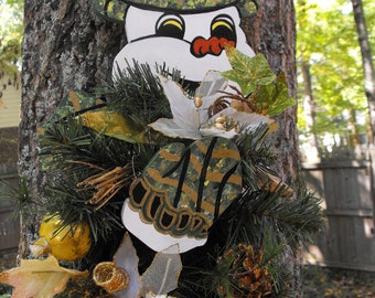 Frosty the Snowman Christmas Wreath Holder