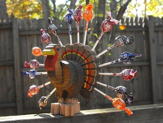 Wood Turkey Lollipop Holder