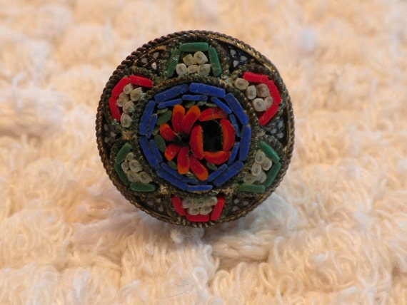 Vintage Mosaic Tile Pin