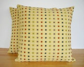 Yellow Tapestry Pillow Covers 16 x 16 Inch