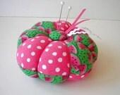 Pincushion Pink and Green Watermelon - Watermelon Print Pin Cushion