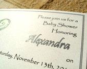 CUSTOM Koru Baby Shower Invitation Order for Kirsten