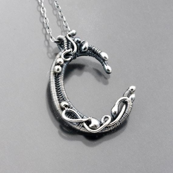 Fine Silver Initial Pendant - C