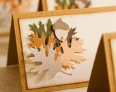 Autumn Leaves Thanksgiving place cards
