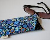 Eyeglass sunglass padded case Kaffe Fassett cotton fabric