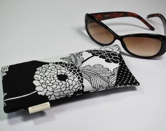 Eyeglass sunglass padded case in Alexander Henry Yoko fabric