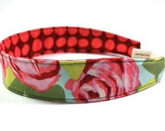 Reversible headband in Amy Butler Love 100 percent cotton