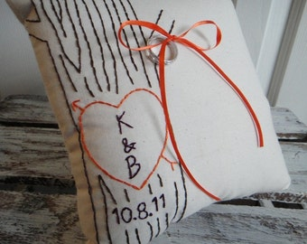 The Crush Mini. Custom Faux Bois Ring Bearer Pillow in YOUR Wedding colors