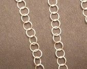 2 ft italian Sterling Silver 5.5mm Round Link Chain bulk