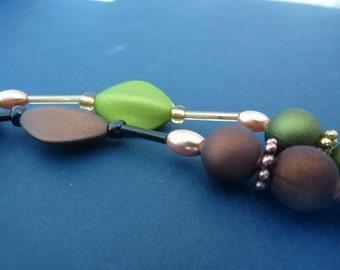 2 full strands acrylic beads