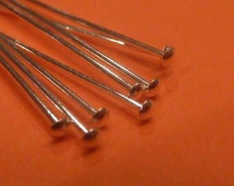 40 pcs 1 inch sterling silver dome head pin