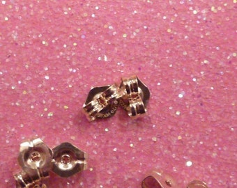16 pcs - 8 pairs 14 kt gold filled 6 mm earring stopper