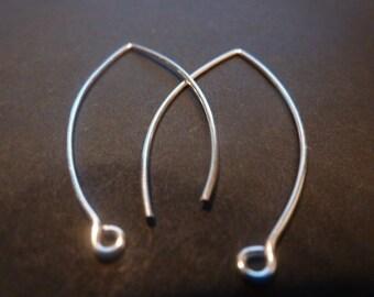 8 pcs sterling silver long earwire - 400