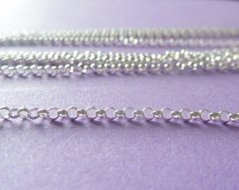 4 ft sterling silver italian rolo chain - bulk/unfinshed