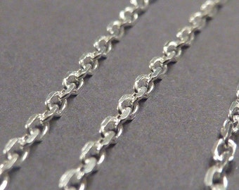 2 pcs 18 inch sterling silver italian anchor chain