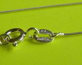 2 pcs Sterling silver 18 inch italian snake chain