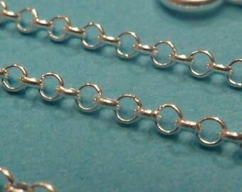 36 inch sterling silver italian rolo chain
