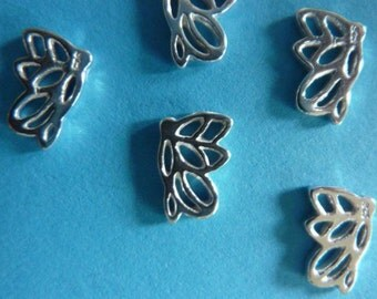 4 pcs 12 mm sterling silver 3D filigree butterfly charm / connectore