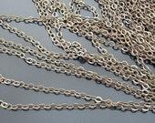16.6 feet 2mm Antique Bronze Flat Cross O Chains (20004)