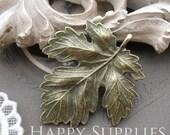 4Pcs Antiqued Vintage Bronze Leaf Charms / Pendant (23248)