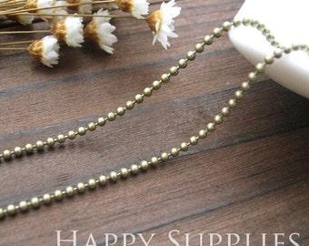 16.6 feet (5M) (1.5mm) Nickel Free - 1.5mm Antique Bronze Ball Bead Brass Chains (W112)