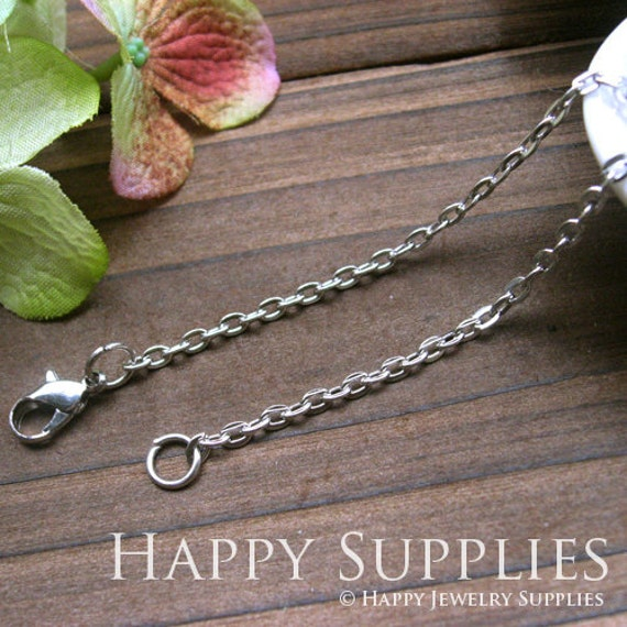 10pcs Silver Plated Long Chain Necklace (W153)