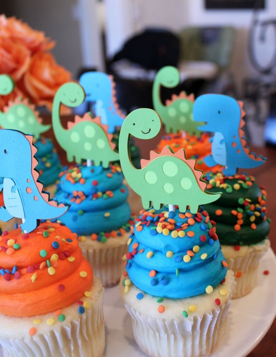 orange and turquoise blue boy dino birthday party decorations on etsy