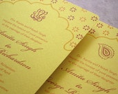 RESERVED for caluri - Elegant Indian Ceremony and Reception Stationery