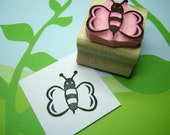 Bee Stamp - Buzzing Bee - Hand Carved Rubber Stamp - Insect Rubber Stamp - Gift for Nature Lover - Honey Bee - Rubber Stamper