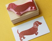 Dachshund Rubber Stamp - Sausage Dog Hand Carved Rubber Stamp - Daschshund Gift - Gift for Dachshund Lover - Dog Gift - Animal Lover