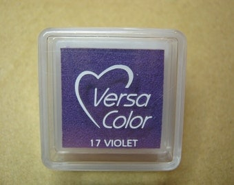 VersaColor Pigment Ink Pad Small in Violet Black Inkpad - Purple Ink for stamp - Inkpad for Rubber Stamp - Versa Color - Colour Ink Pad