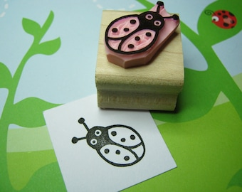Cute Ladybird Stamp - Ladybug Hand Carved Rubber Stamper - Nature Lover - Bugs - Creature - Insects - Gift - Spotty - Spot