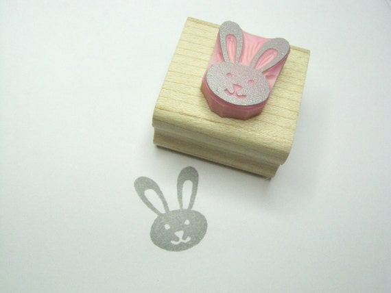 Little Bunny - Hand Carved Rubber Stamp