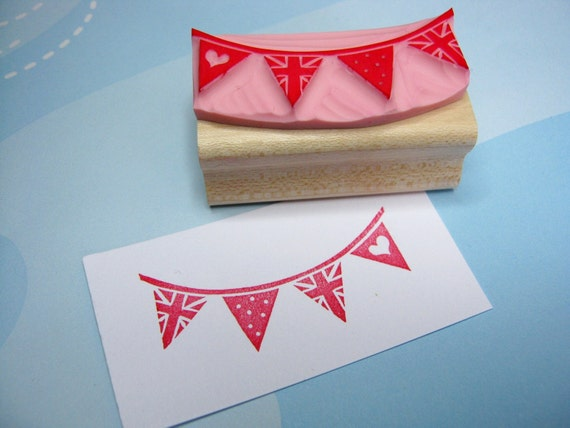 british bunting hand carved stamp