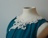 FOR JENNY - Eco Necklace - White Swirly Lace Design - Delicate Laser Cut - Recycled Felt
