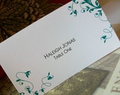 Wedding Place - Escort Cards - SAMPLE .20 each Personalized Vine