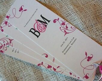 DIY Printable Wedding Program Fan - Any Design or colors