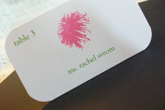 Wedding Place - Escort Cards - SAMPLE .20 each Personalized