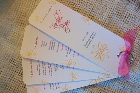 DIY Printable Wedding Program Fan PDF 25.00 - any color or design