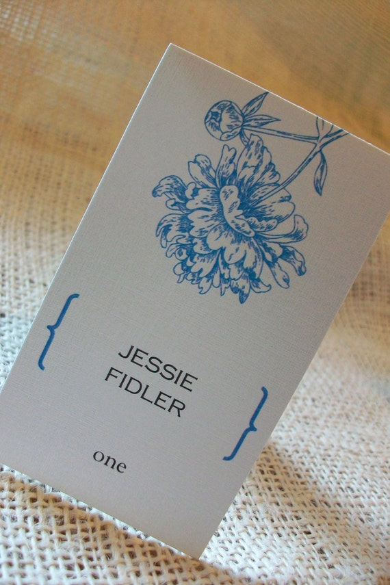 Wedding place escort cards sample 20 each personalized for Personalized wedding place cards